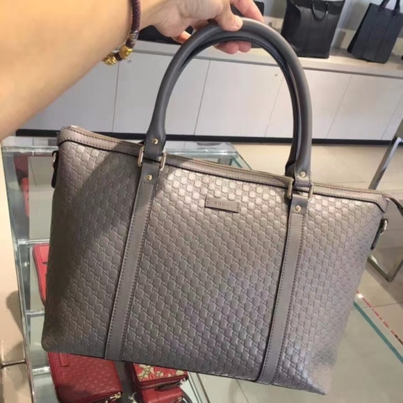 f4fca633ee04 Gucci Bags | Grey Leather Micro Gg Medium Convertible | Poshmark